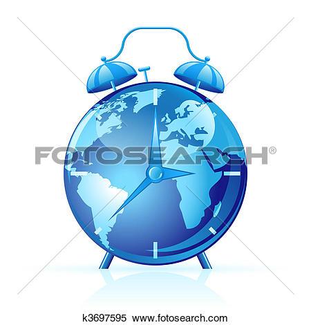 Clipart of World clock k3697595.