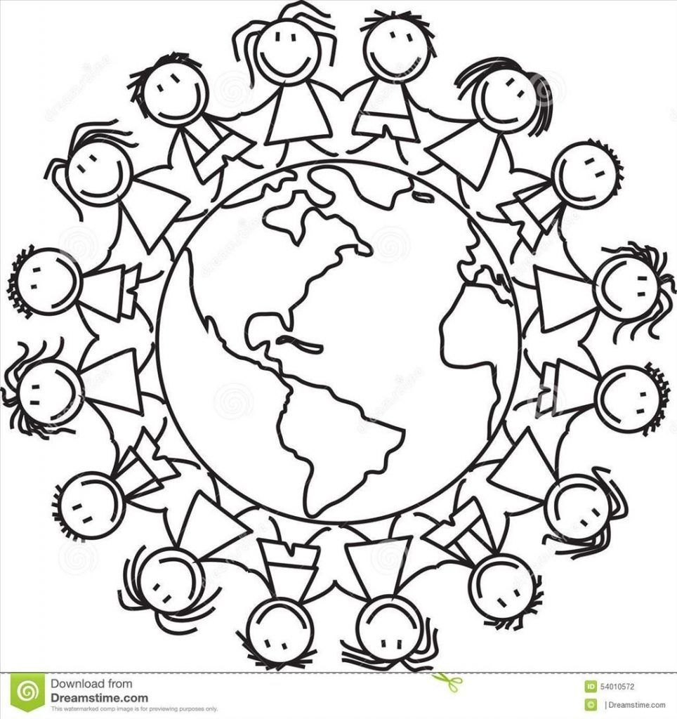 Children Around The World Coloring Pages Readgyan Throughout.