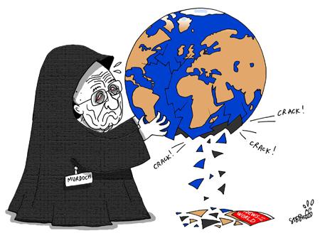 Murdoch\'s world falling apart.