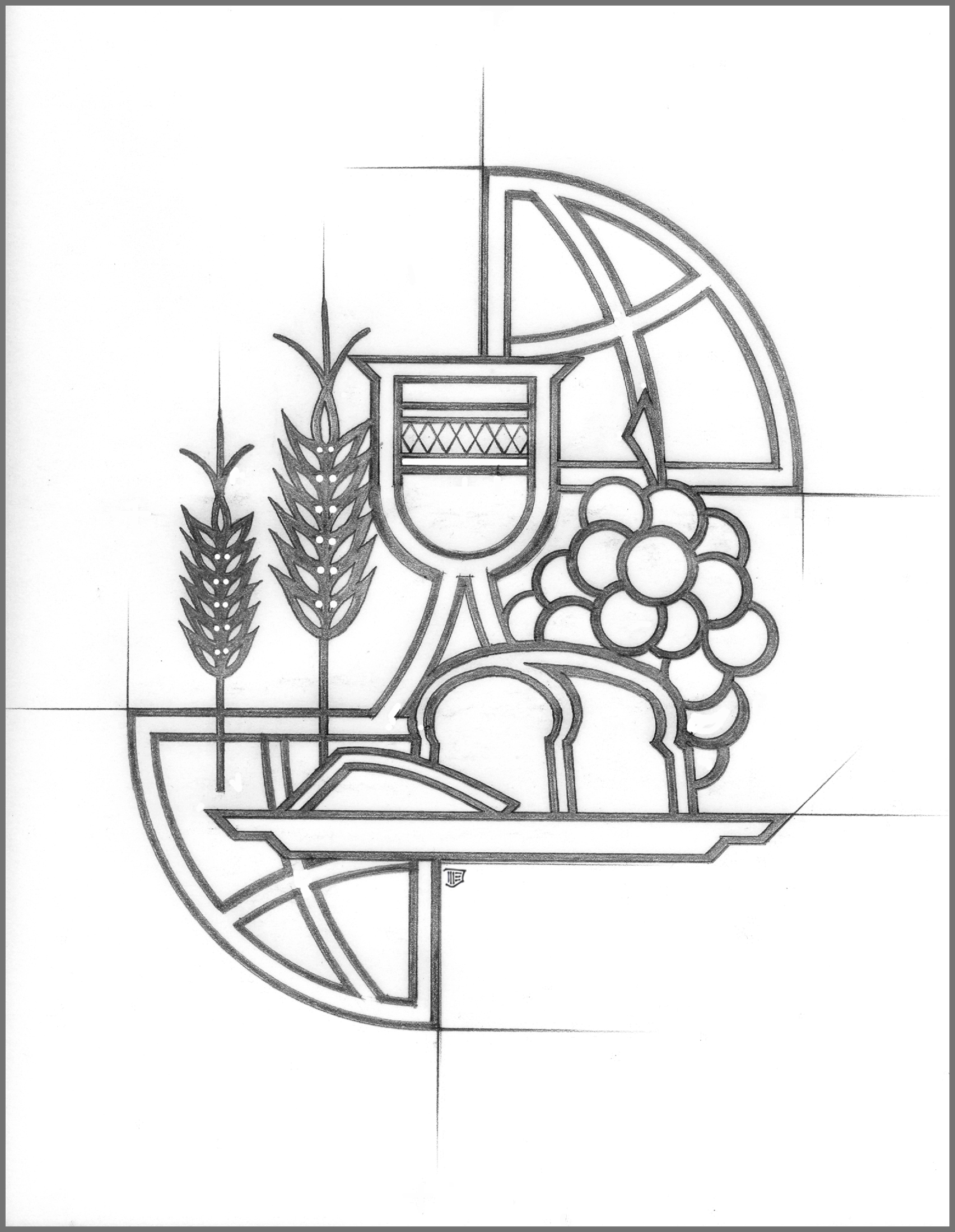 World communion sunday 2015 clipart clipground for Eucharist coloring pages