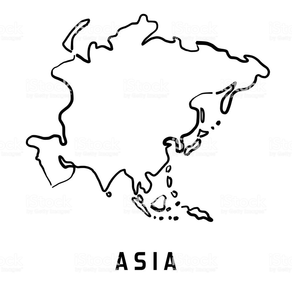 Unfolded Simple Maps Of Asia Pacific Outline Map Asia.