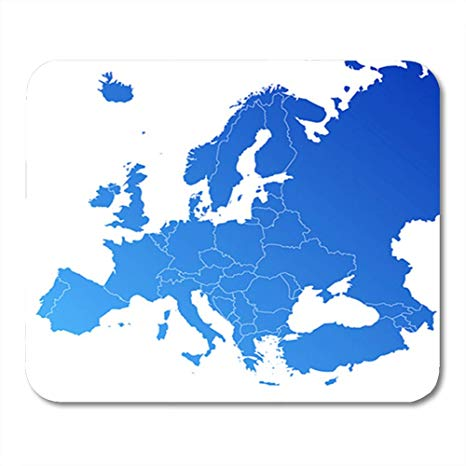 Amazon.com : Semtomn Gaming Mouse Pad European Europe Map.
