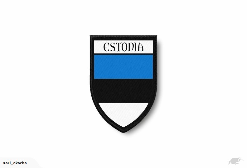 PATCH PATCHES EMBLEM IRON ON GLUE PRINT FLAG world crest estonia.