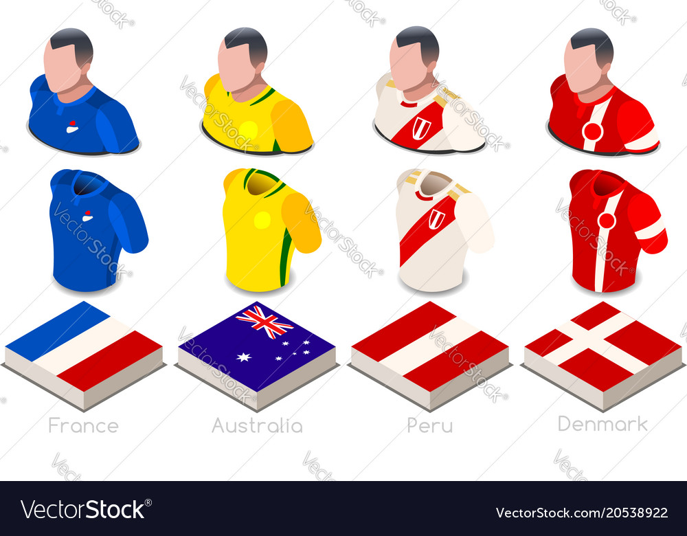 World cup group c jersey set.