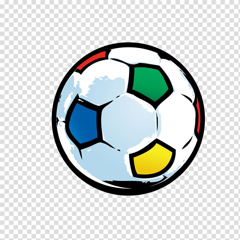 Multicolored soccer ball illustration, 2018 FIFA World Cup.