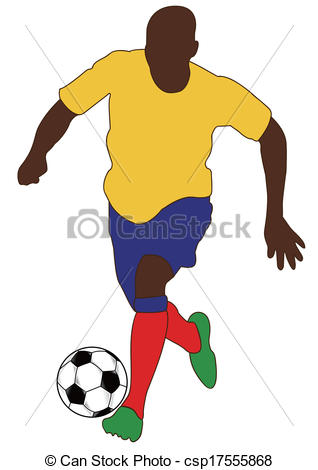 Clip Art Vector of WORLD CUP Soccer players silhouette csp17555868.
