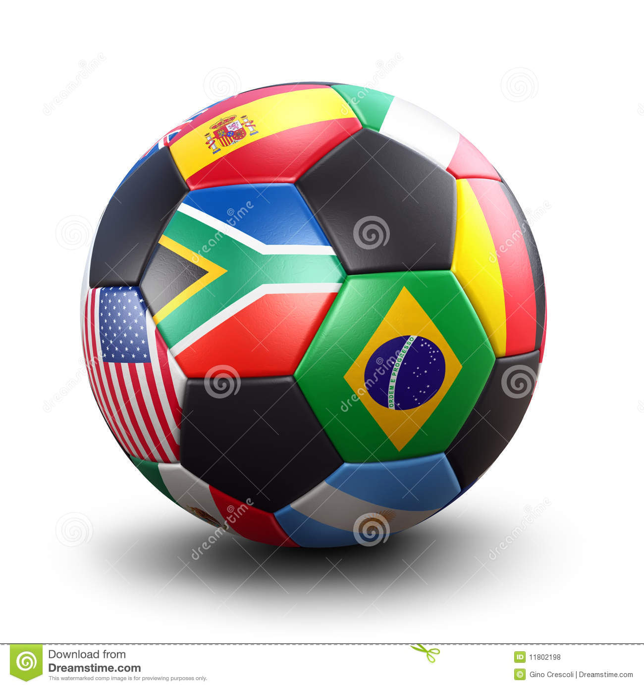 World Cup Soccer Ball Royalty Free Stock Photos.