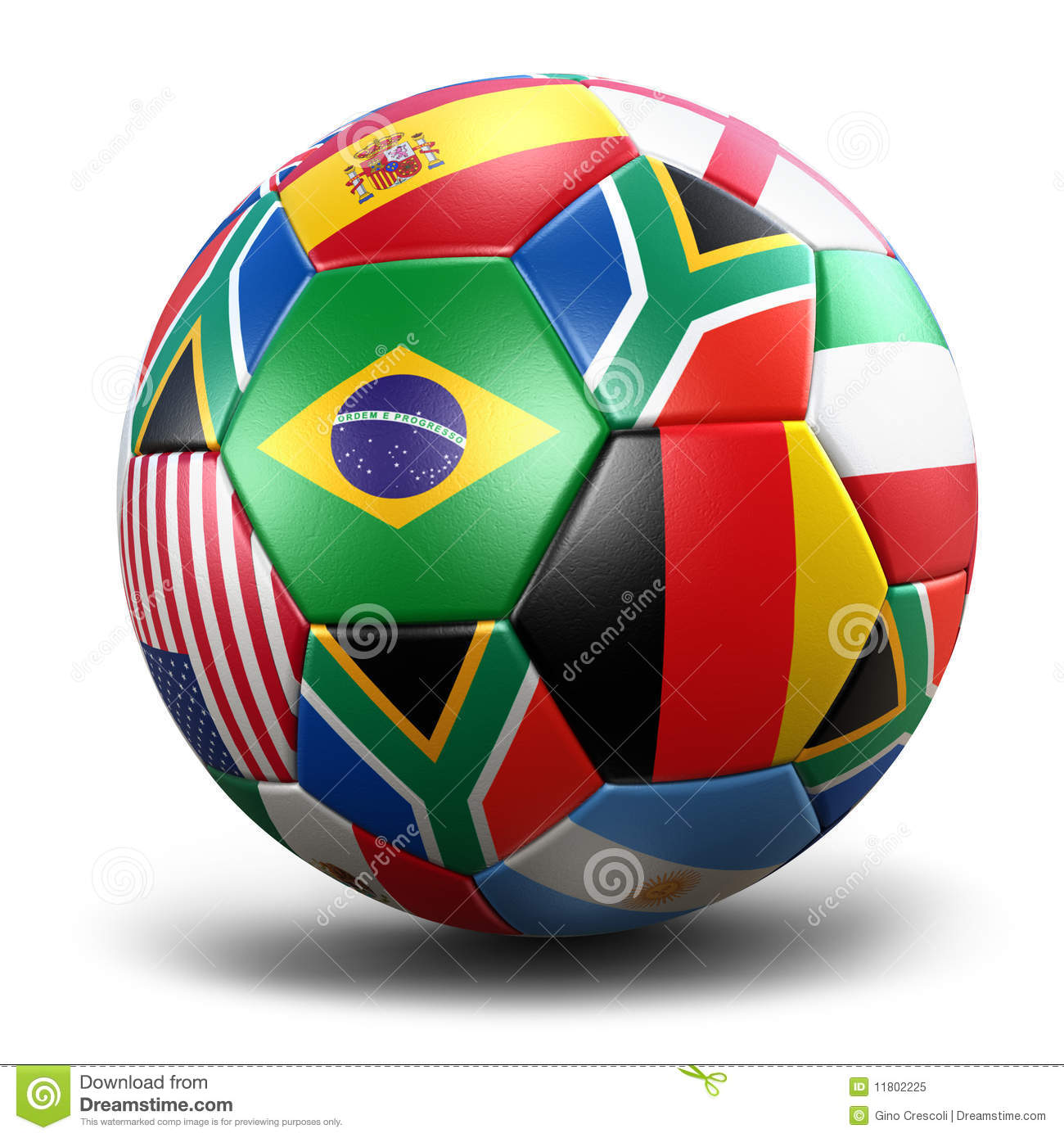 World Cup Soccer Ball Royalty Free Stock Photo.