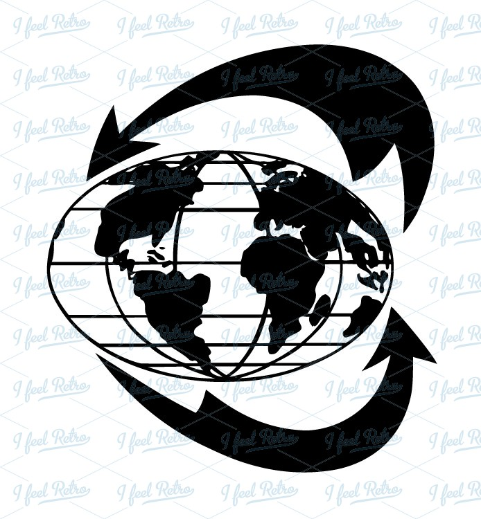 Retro Clipart: Global economy.