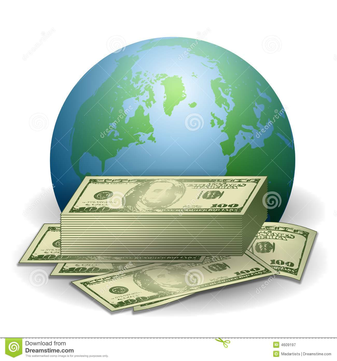 Money Earth Global Economy Royalty Free Stock Photography.