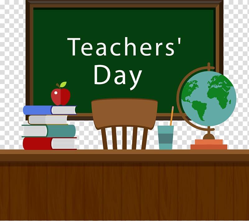 Teaches\' Day illustration, Student World Teachers Day.