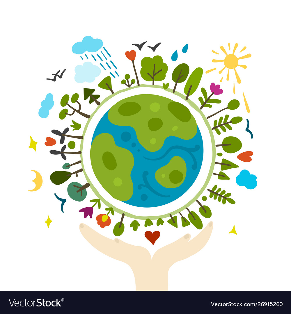 World environment day background save earth.
