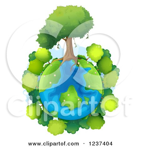 Clipart Illustration of a Wind Up Planet Earth by Lisa Arts #34394.