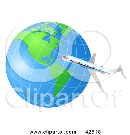 Clipart of a Painted Planet Earth with Watercolor Splatters and.