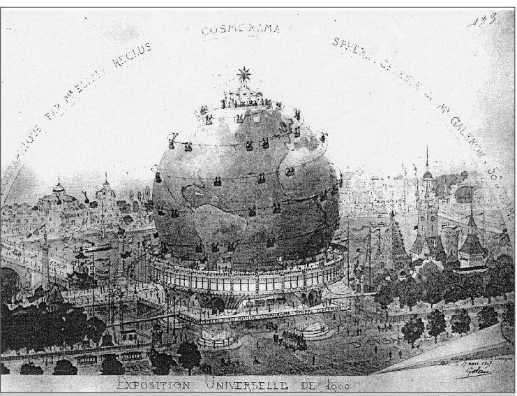 Un globe terrestre pour l\'Exposition universelle de 1900. L.