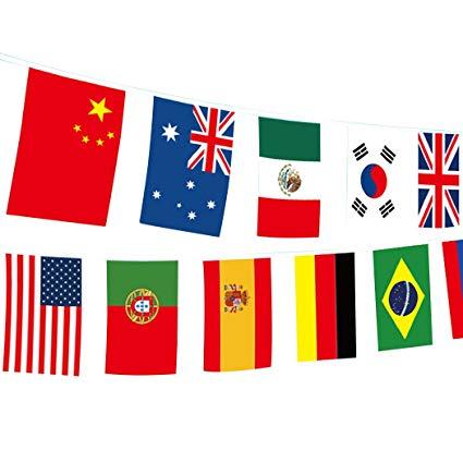 Amazon.com : PerHomeAid International String Flags Banners.
