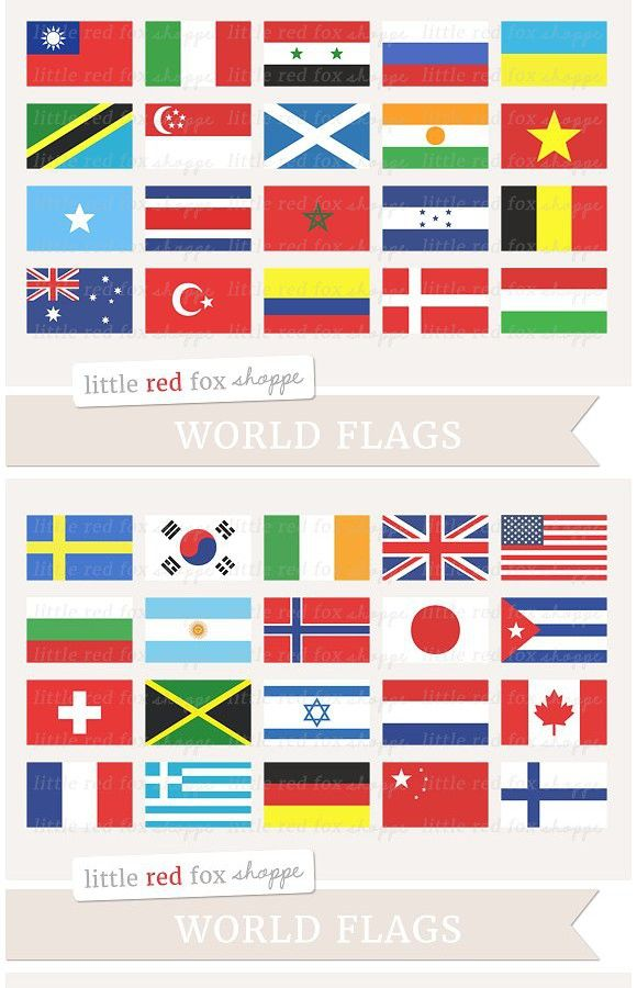 World Flag Clipart.