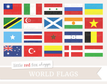 World Flag Clipart; International, Country, USA, United States, America.