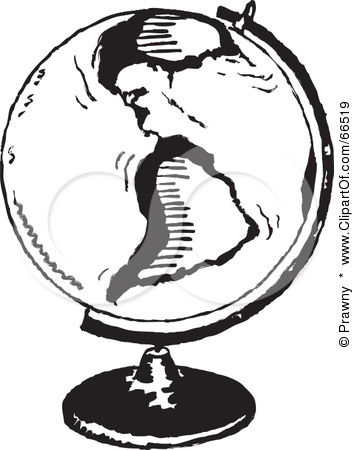 World Geography Clipart Black And White.