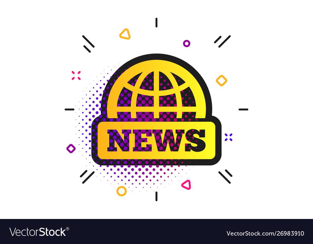 News sign icon world globe symbol.