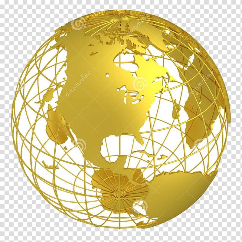 Earth Globe 3D computer graphics, globe transparent.