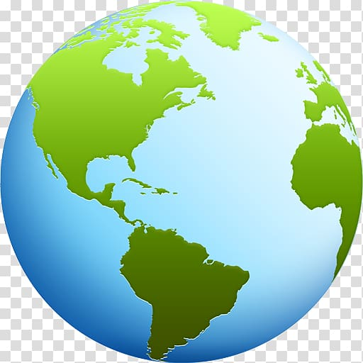 Earth illustration, United States South America Map Icon.