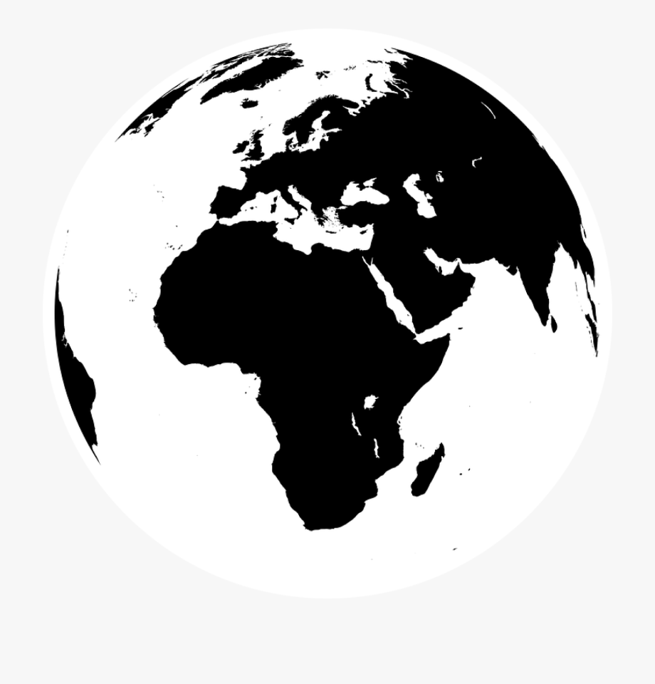 Black And White Earth Png.