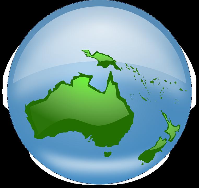 Free vector graphic: Globe, World, Earth, Oceania, Map.