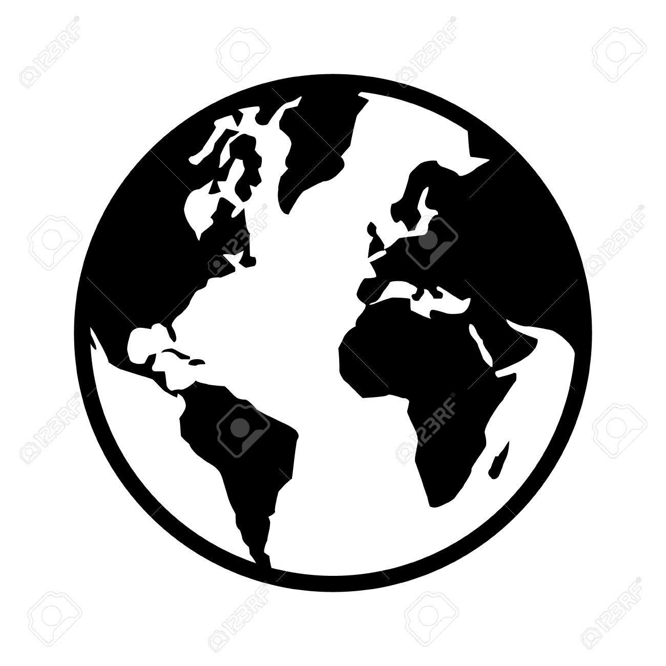 World Map Globe Clipart.