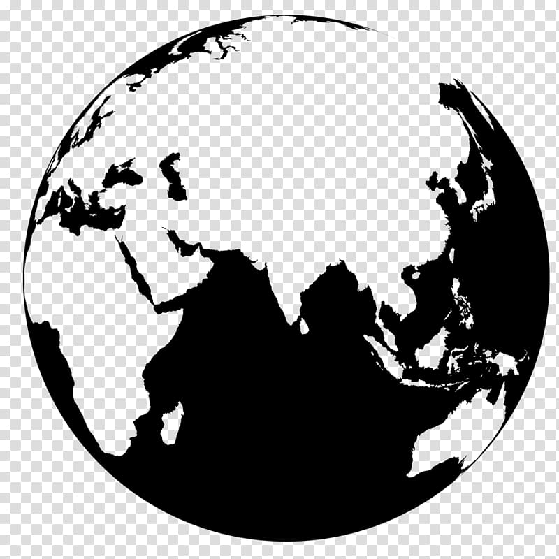Globe World map , earth transparent background PNG clipart.