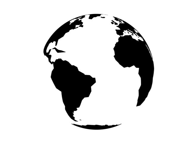 World Globe Silhouette.