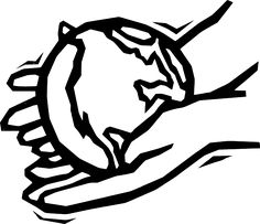 clip art free world with god's hands.