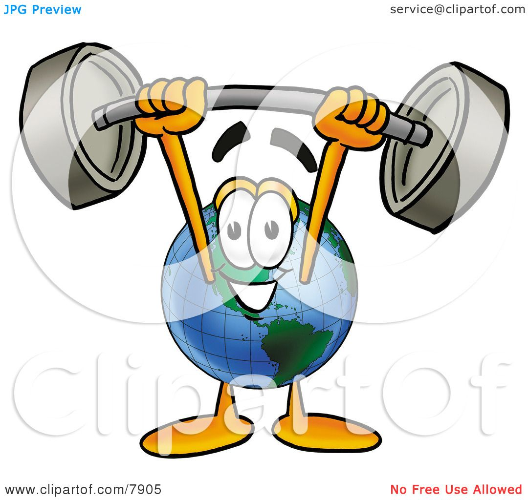 Clipart Picture of a World Earth Globe Mascot Cartoon Character.