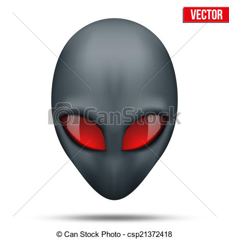Vector Clip Art of Alien head creature from another world. Vector.