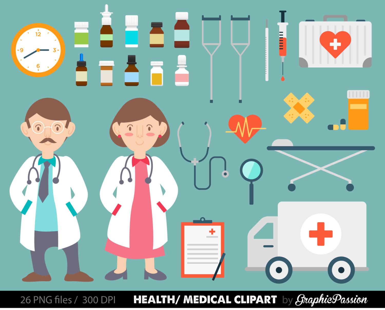 Health clipart Medical Clipart Doctor clipart Nurse image Hospital.