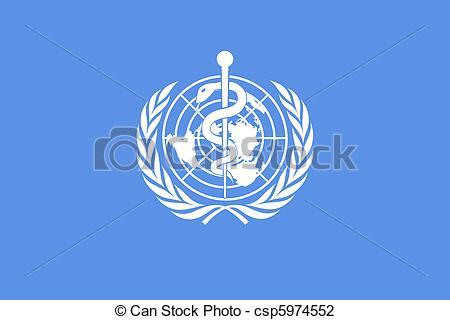Clip Art of World Health Organization flag.