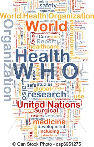 Stock Illustrations of World health organization WHO background.