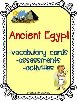 Ancient Egypt Vocabulary, Activities, Assessments and Games.