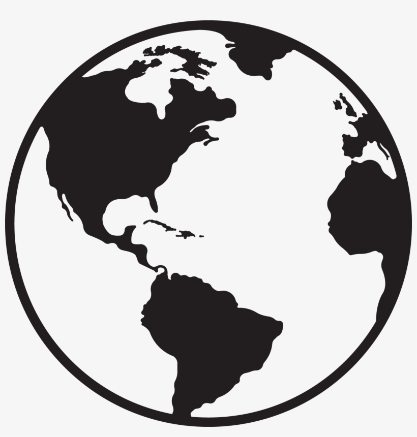 Best Globe Black And White Vector Image.