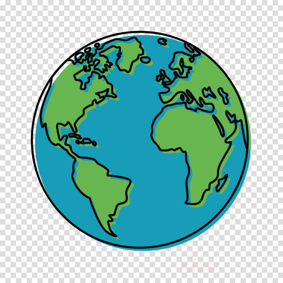 green globe earth turquoise world clipart.