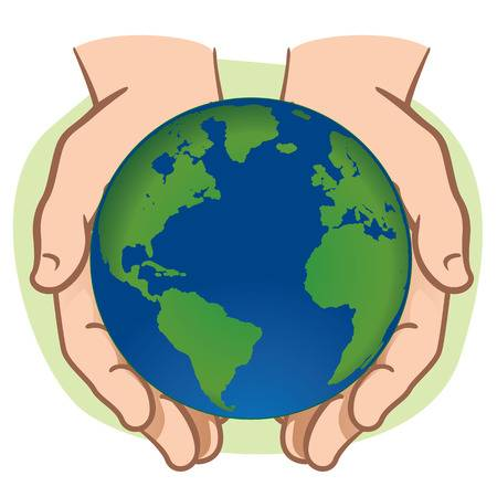 Hands Holding Earth Clipart.