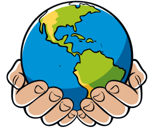 World In Your Hands Clipart.