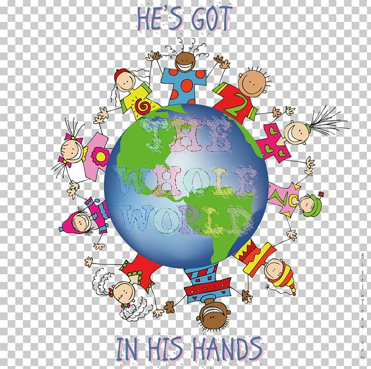 He\'s Got The Whole World In His Hands Earth Song PNG.