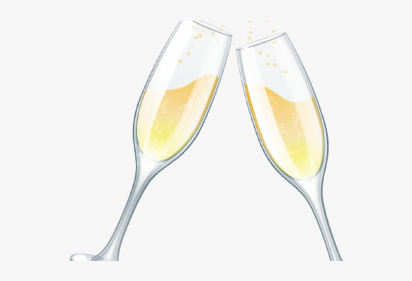 Champagne glasses clinking clipart Transparent pictures on F.