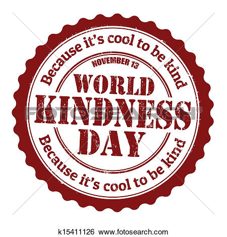 Clip Art of World kindness day stamp k15411126.