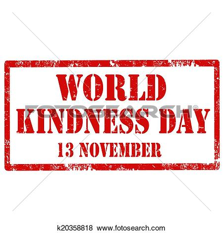 Clip Art of World Kindness Day.