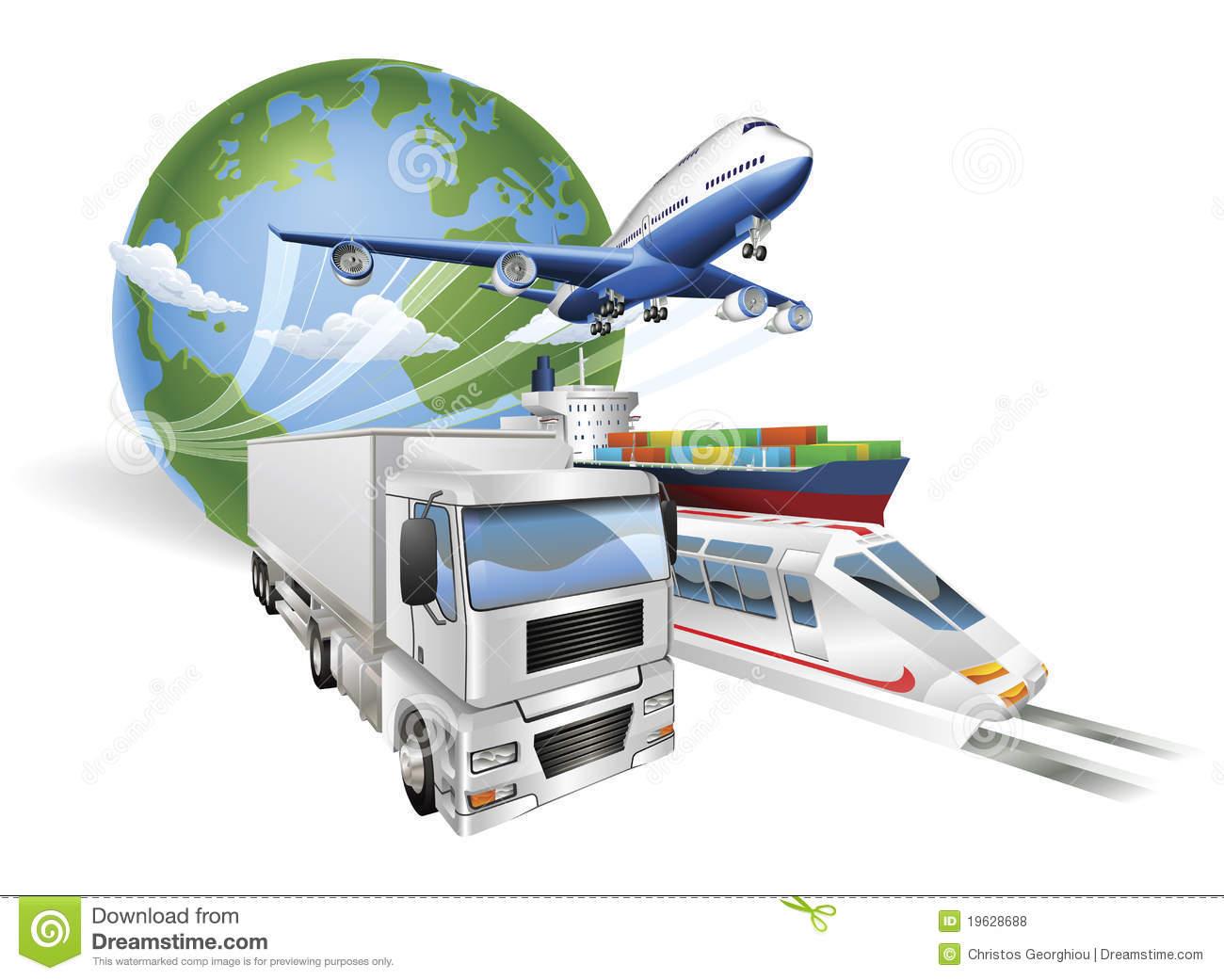 Logistics Transport Globe Concept Royalty Free Stock Photo.