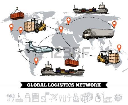 249 Logistic World Vector Stock Vector Illustration And Royalty.