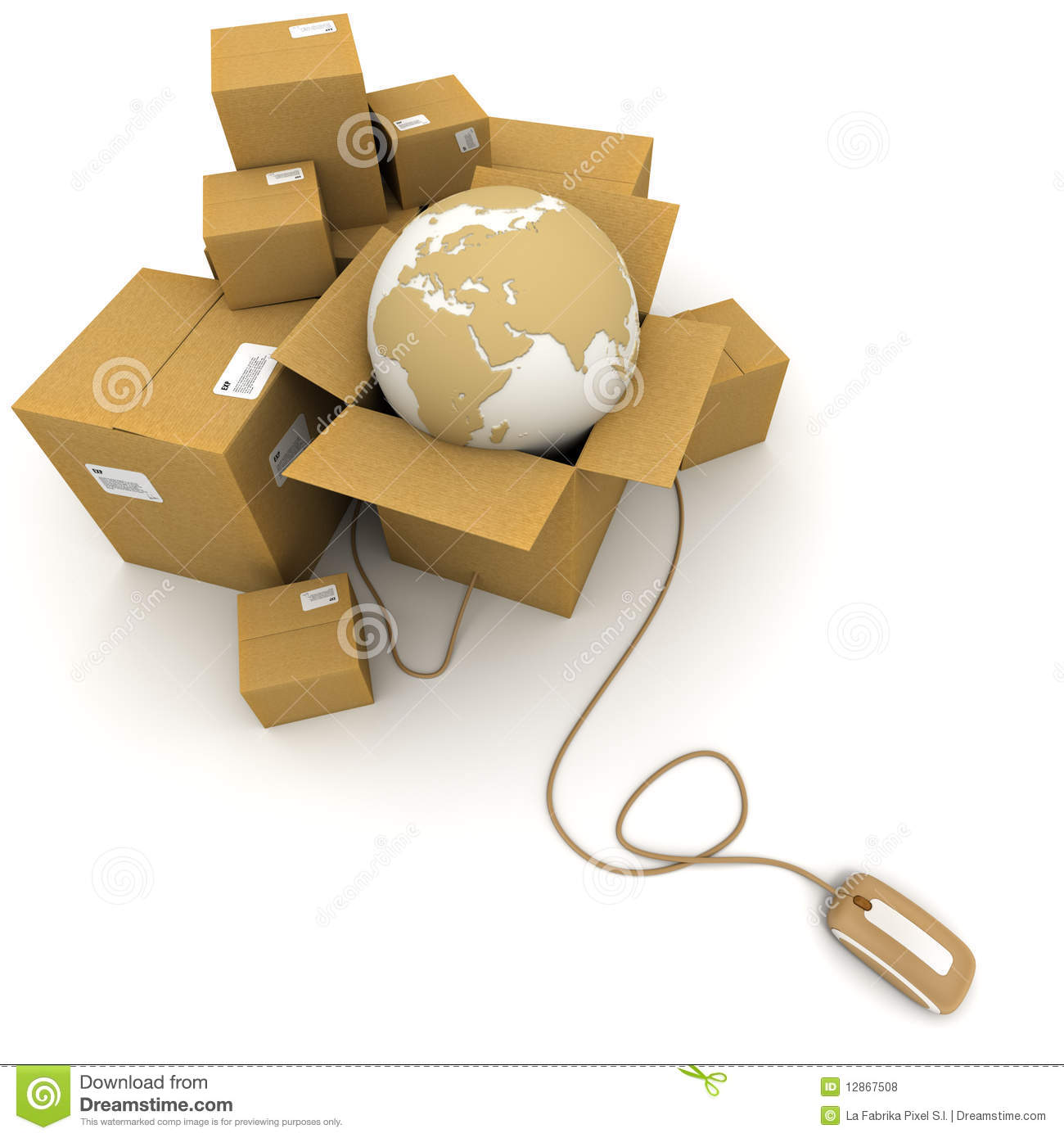 Logistics Stock Illustrations.