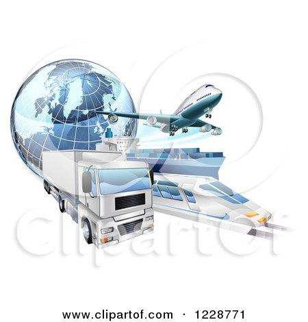Clipart 3d Logistics Vehicles.